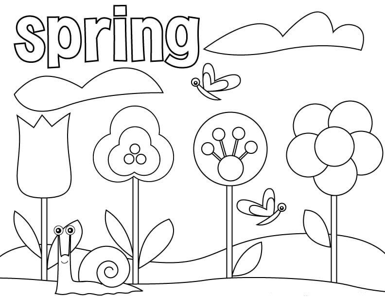 792x612 Free Printable Spring Coloring Pages