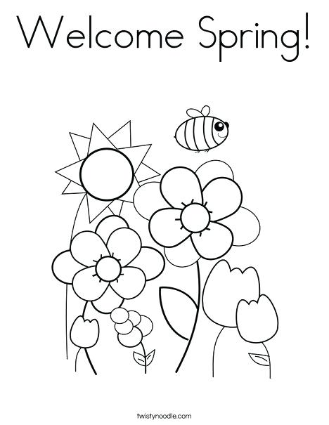 468x605 Spring Coloring Pages Preschool Welcome Spring Coloring Page