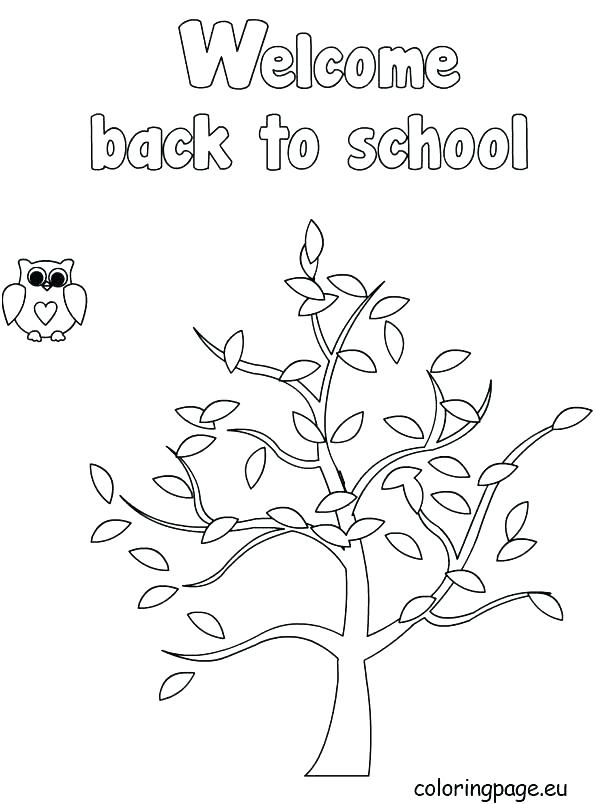 595x804 Coloring Welcome Back To School Coloring Pages Worksheets For All