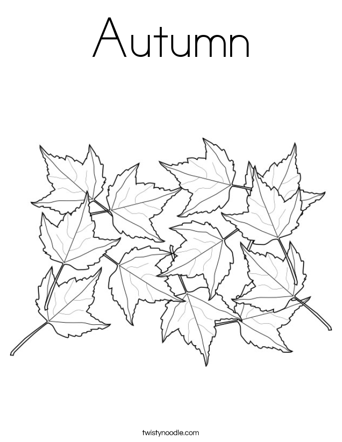 685x886 Autumn Coloring Page