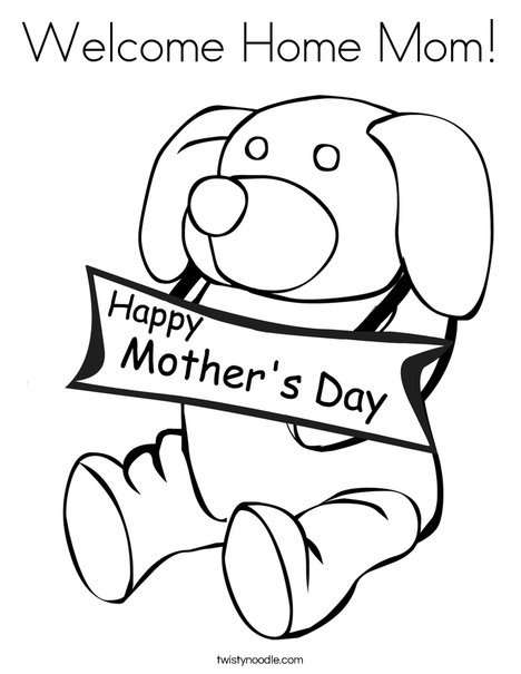 468x605 Welcome Home Mom Coloring Page