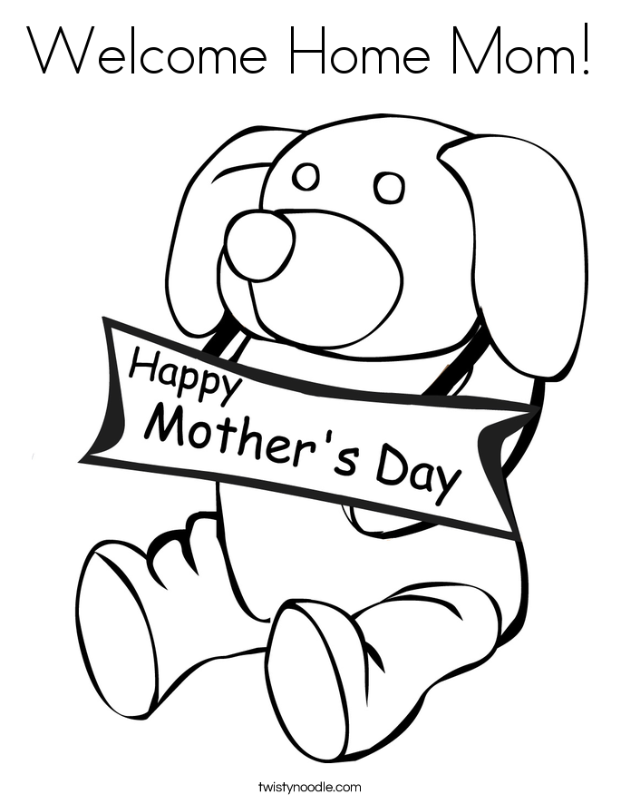 685x886 Welcome Home Mom Coloring Page