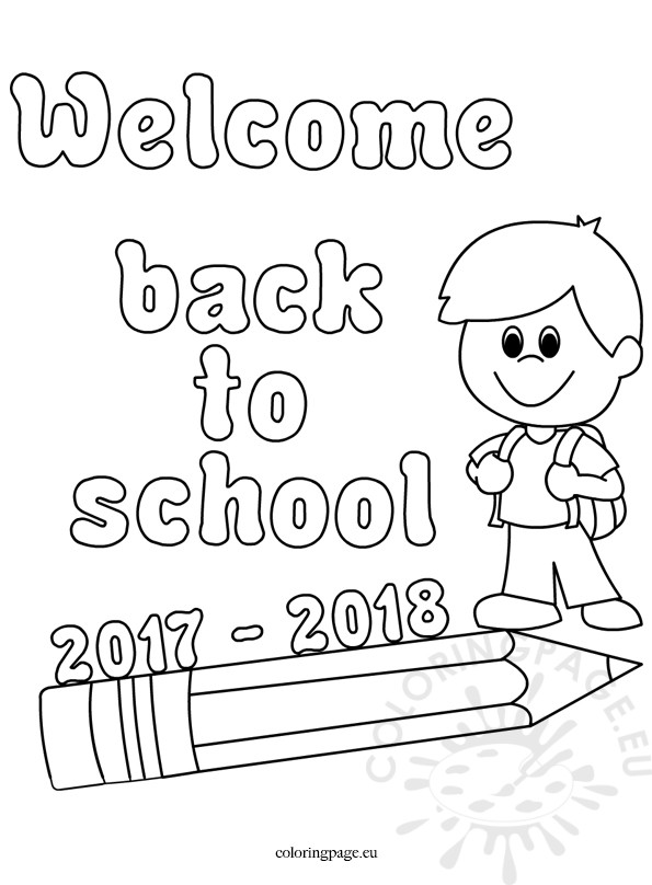 595x808 Welcome Back To School Coloring Page New Welcome Back To School