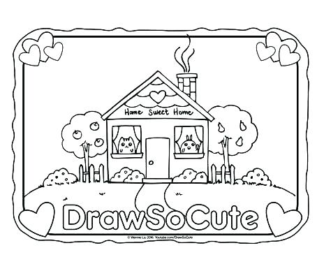 454x388 Home Coloring Page Little Bill Coloring Pages Home Sweet Home