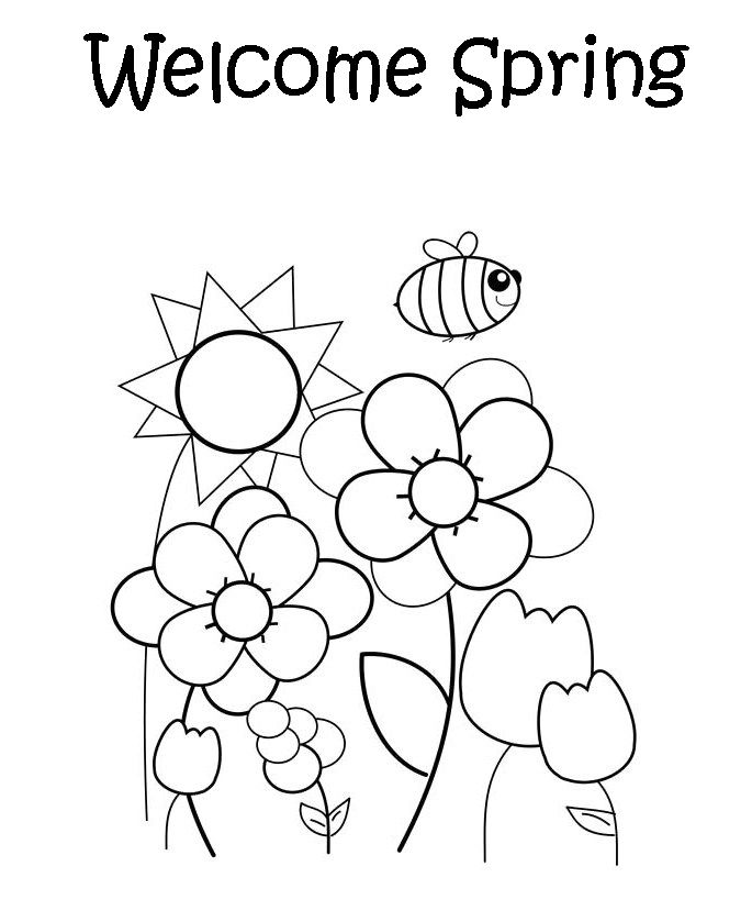 685x839 Welcome Spring Coloring Page Free Team Ideas