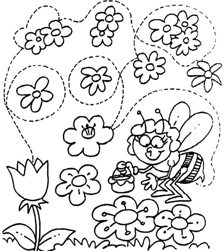 715x798 Welcome Spring Coloring Pages For Kids Kita