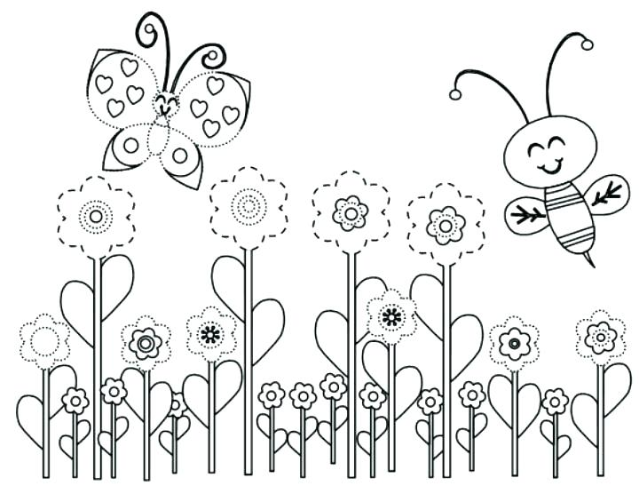 720x556 Welcome Spring Coloring Pages Simple Spring Coloring Pages