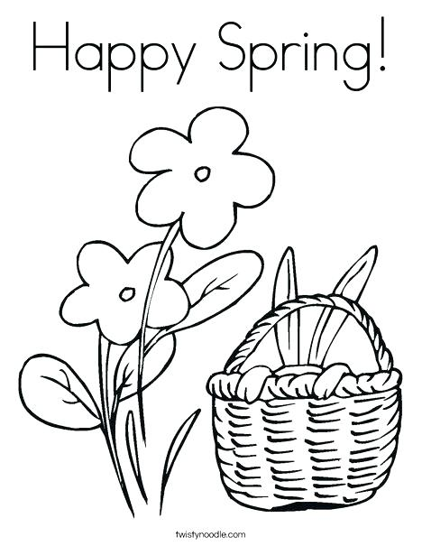 468x605 Welcome Spring Coloring Sheets Spring Coloring Pages Happy Spring