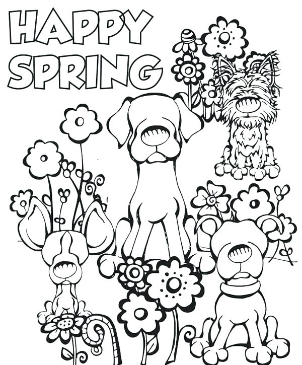 600x725 Welcome Spring Coloring Sheets Spring Coloring Pages Printable