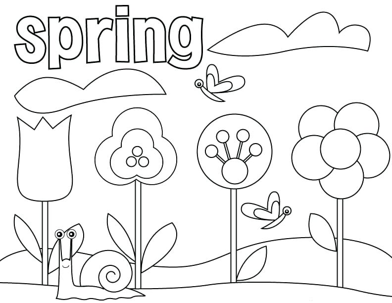 792x612 Welcome Spring Coloring Sheets Welcome Spring Coloring Pages