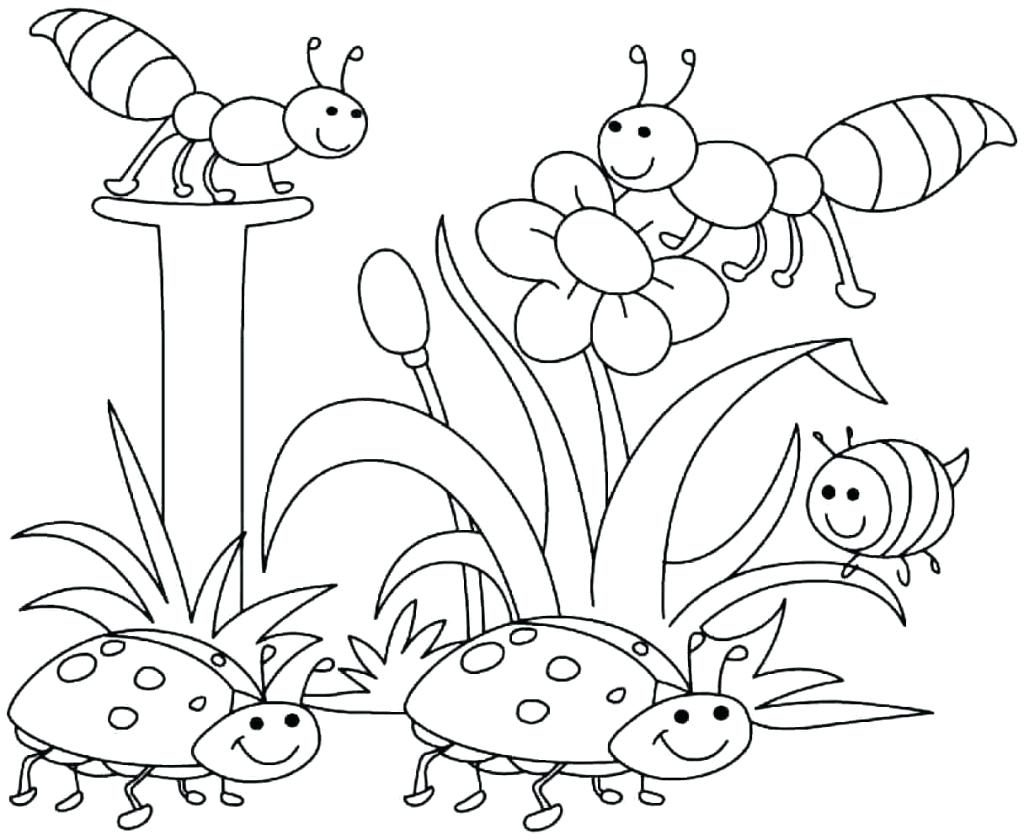 1024x840 Coloring Pages Printable Spring Coloring Pages Beautiful Page