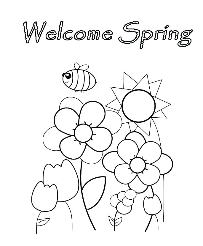 685x828 Welcome Spring Coloring Pages Printable Spring Coloring Sheets