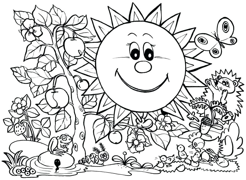 1024x753 Spring Coloring Pages For Preschoolers X Welcome Spring Coloring