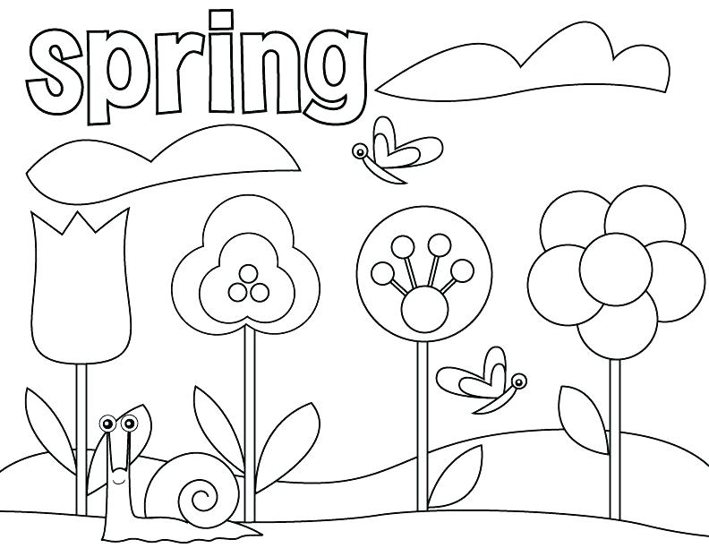 792x612 Spring Coloring Pages Printable Spring Coloring Worksheets Spring