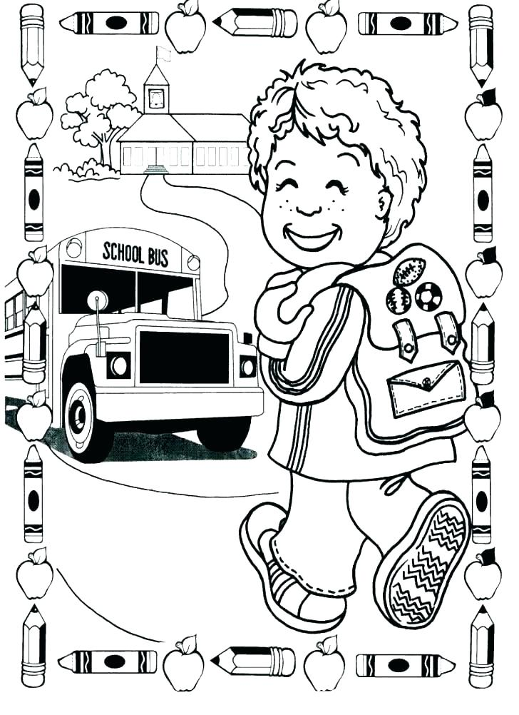 728x1002 Welcome To Kindergarten Coloring Page Welcome To Kindergarten