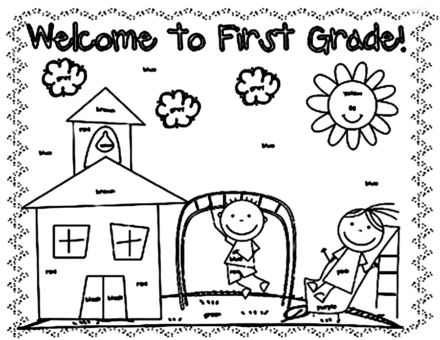 900x694 Welcome To Second Grade Coloring Pages
