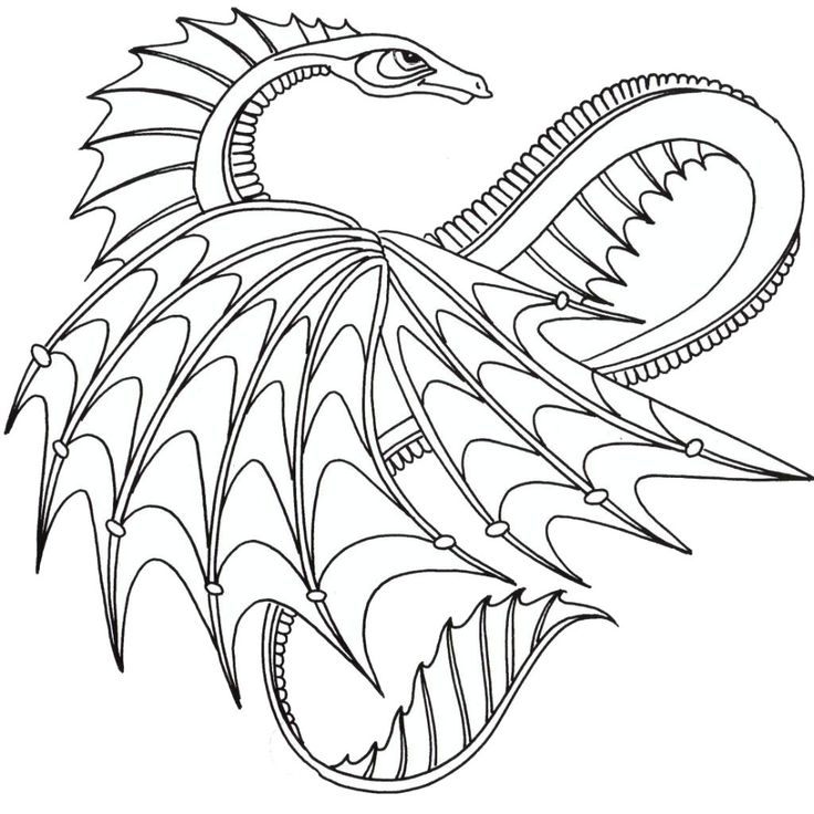 Welsh Dragon Coloring Pages