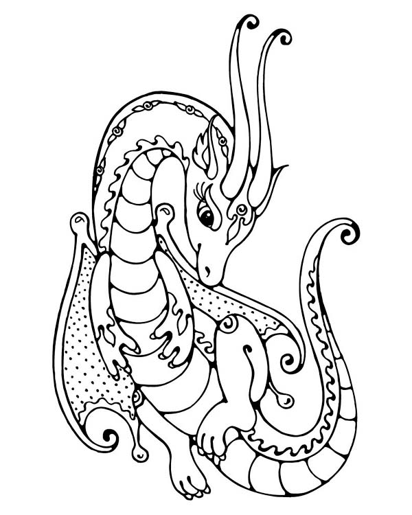 600x750 Dragon Colouring Pages