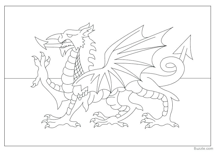 842x595 Great Britain Flag Coloring Page