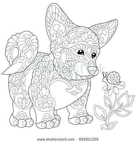 450x470 Puppy Dog Coloring Page Corgi Coloring Pages Coloring Page