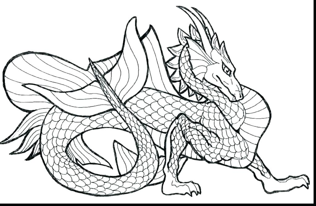1024x669 Realistic Dragon Coloring Pages In Addition To Realistic Dragon