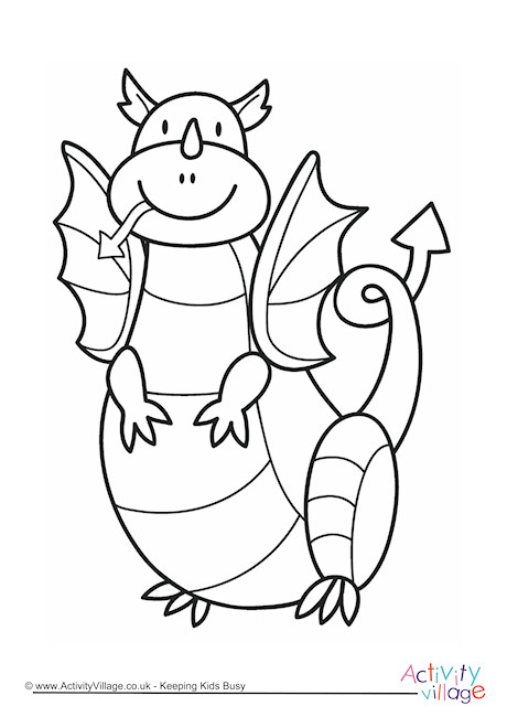 460x650 Welsh Dragon Colouring Page