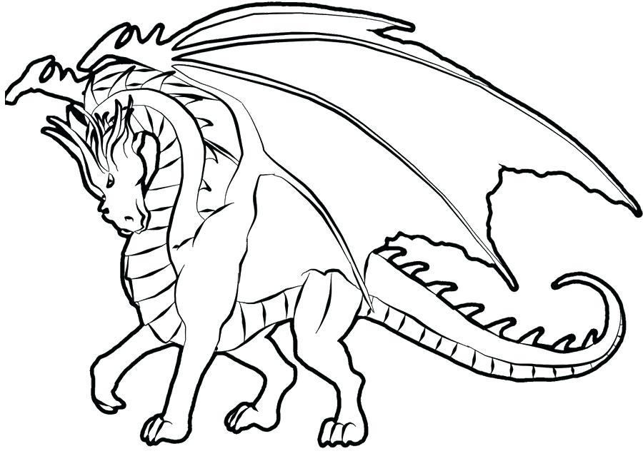 900x653 Dragon Colouring Sheet