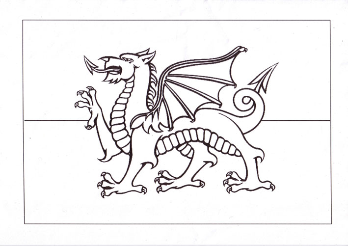709x501 Printable Wales Flag Wales Flag Coloring Pages