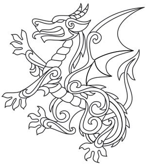 300x341 Coloring Page World Gilded Heraldry