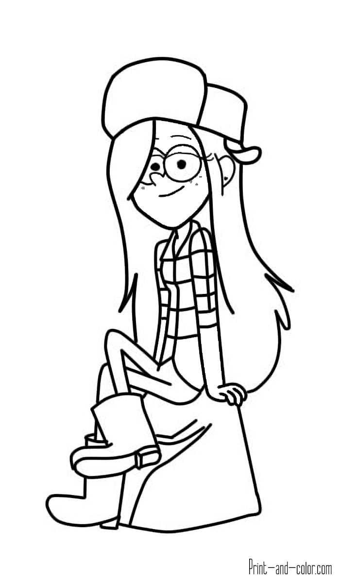 700x1200 Gravity Falls Coloring Pages Print And Color Com Amazing Sheets