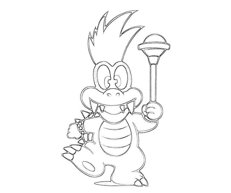 800x667 Iggy Koopa Coloring Pages