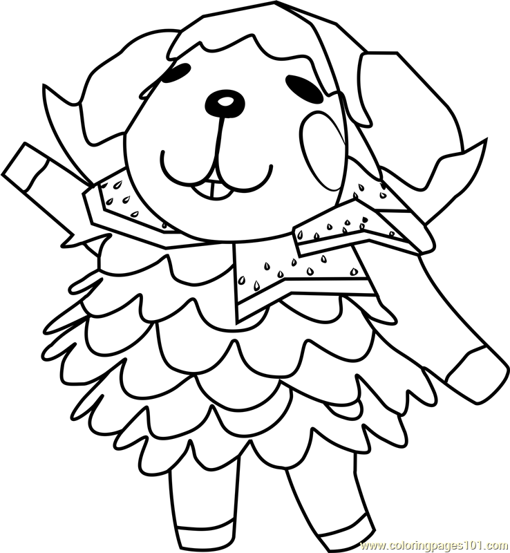 738x800 Wendy Animal Crossing Coloring Page