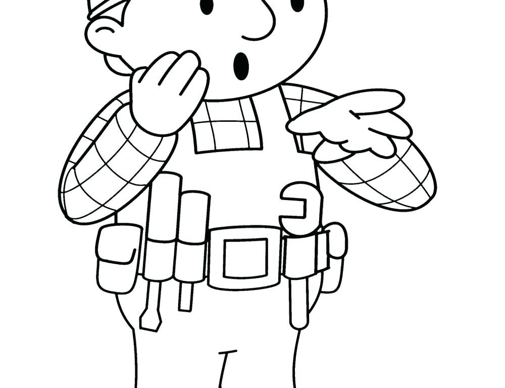 1000x768 Bob The Builder Coloring S Bob The Builder Wendy Coloring Pages