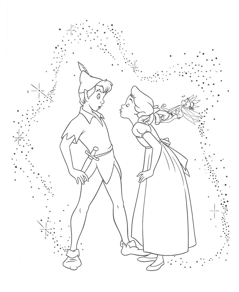 837x1024 Wendy Darling Colouring Pages