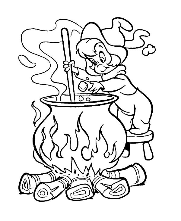 600x734 Wendy The Witch Coloring Pages Best Place To Color