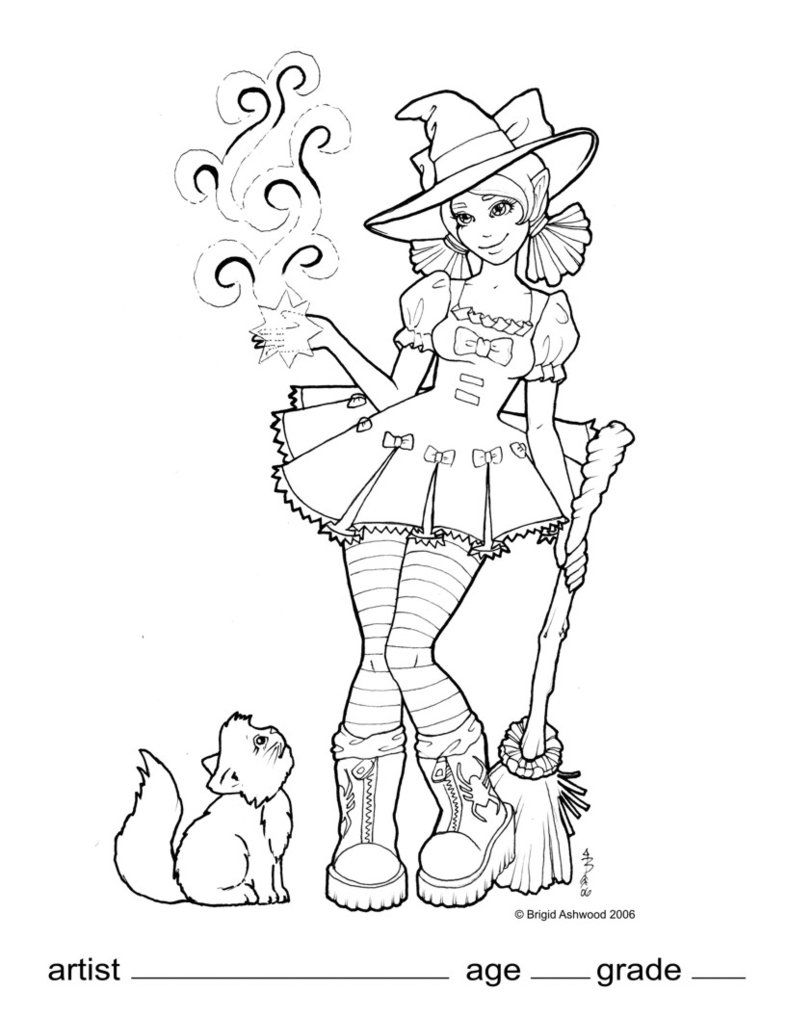 786x1017 Wicked Wendy Coloring Page