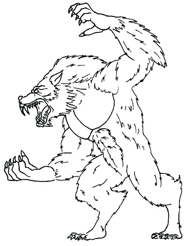 600x785 Werewolf Coloring Pages Baby Wolf Coloring Pages Werewolf Coloring
