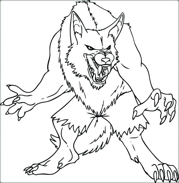 Werewolf Coloring Page at GetDrawings | Free download