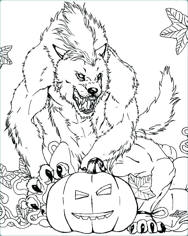 600x752 Werewolf Coloring Pages Coloring Pages Werewolf Coloring Pages