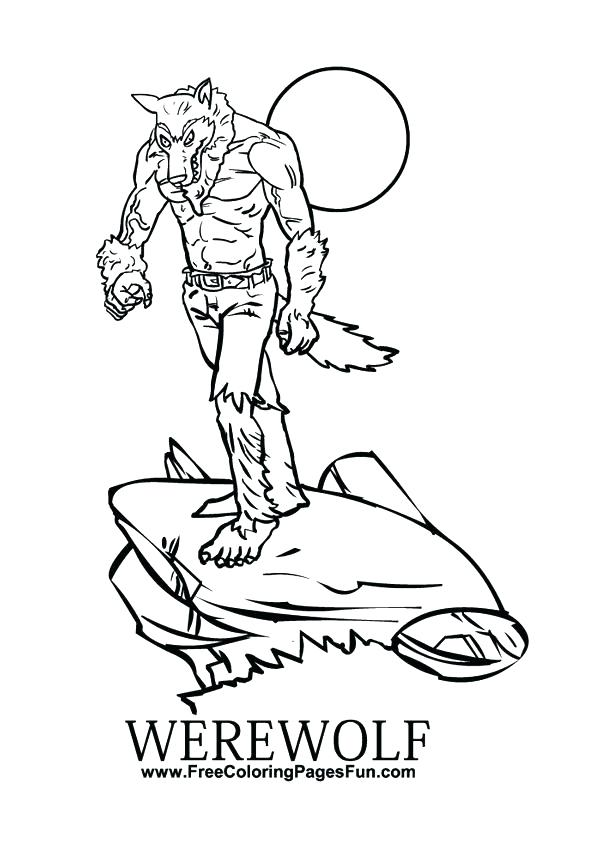595x842 Werewolf Coloring Pages Werewolf Coloring Pages Goosebumps