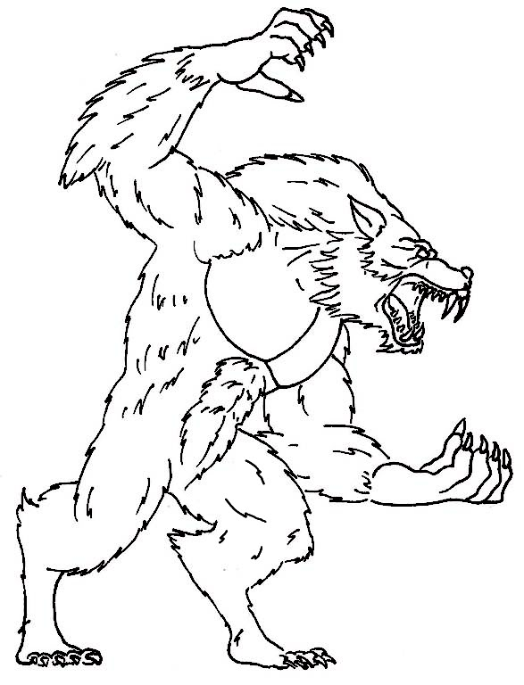 587x768 Werewolf Coloring Pages Werewolf Coloring Sheet Werewolf Coloring