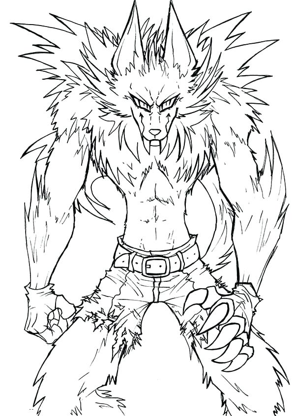Werewolf Coloring Page At Getdrawings Com Free For Personal Use
