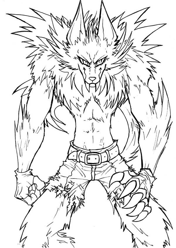Werewolf Coloring Pages Printable