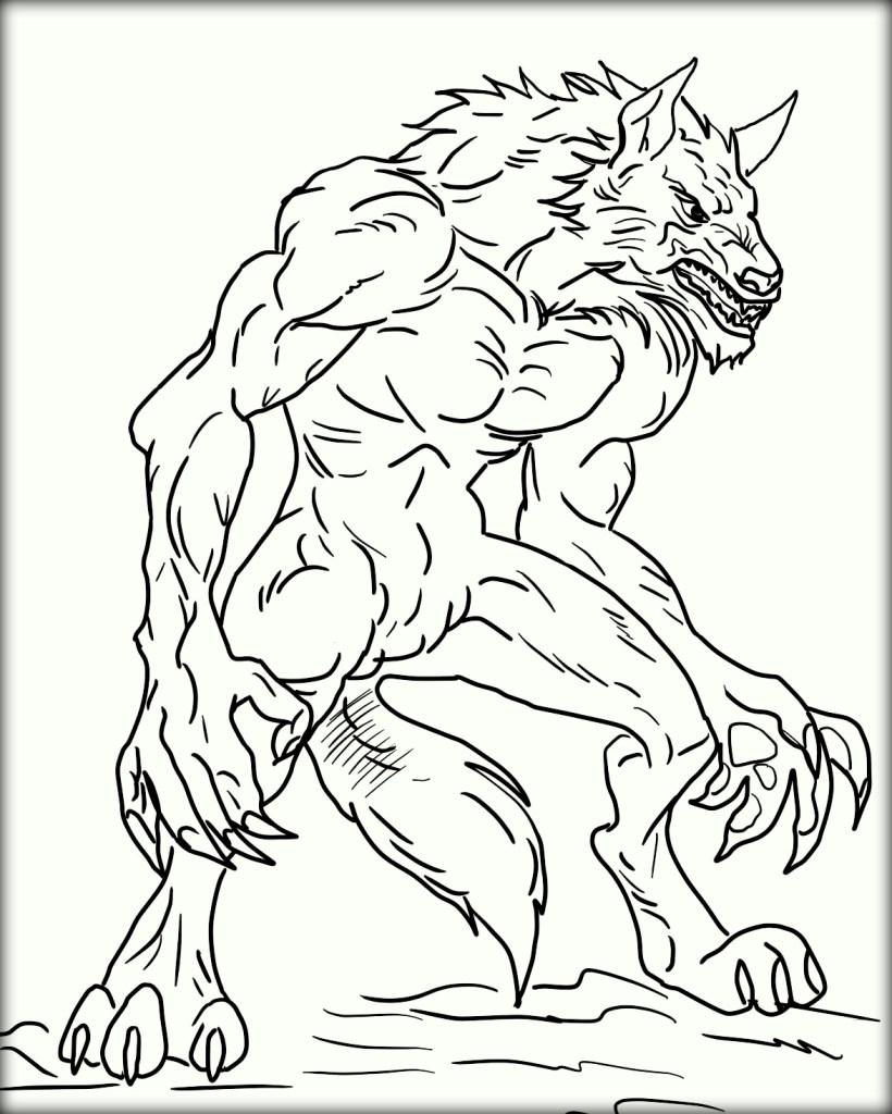 Werewolf Coloring Pages Printable at GetDrawings   Free ...