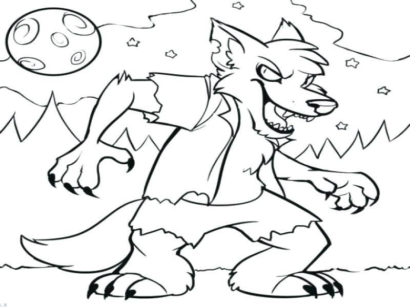 800x600 Realistic Werewolf Coloring Realistic Werewolf Coloring Pages