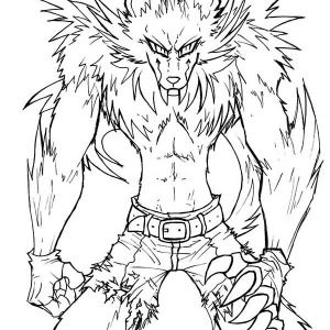 300x300 Werewolf, Awesome Drawing Of Werewolf Coloring Page Awesome