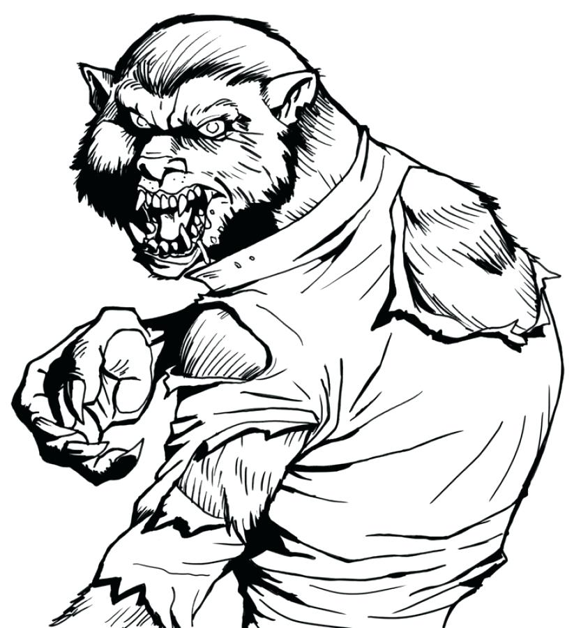 823x900 Werewolf Coloring Pages Cool Werewolf Coloring Pages Kids Fancy