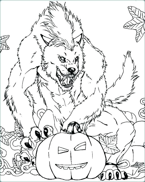 600x752 Wolfman Coloring Pages Coloring Pages Werewolf Werewolf Page
