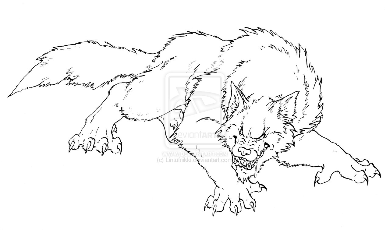 Werewolf Coloring Pages Printable at GetDrawings | Free ...