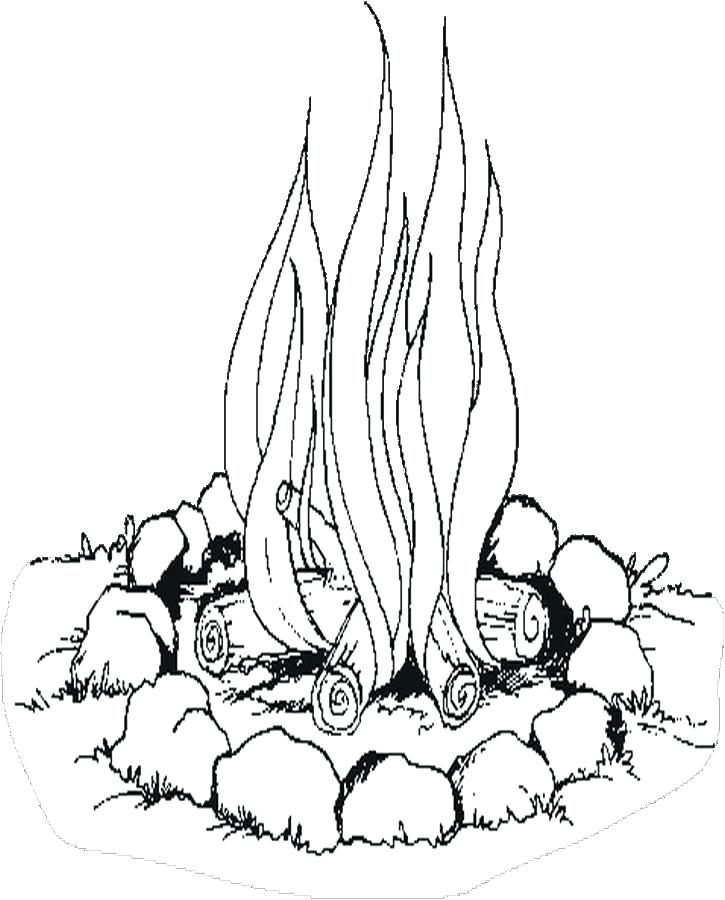 725x900 Old West Coloring Pages Campfire Coloring Page Elegant Campfire
